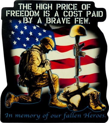 The High Price Of Freedom Fallen Soldier Genuine Leather Sew On Patch