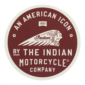 Indian Motorcycle American Icon 1901 Indian Chief Genuine Leather Patch