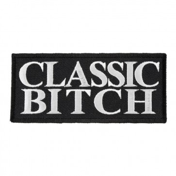 Classic Bitch Patch, Funny Womens Biker Quote Patches