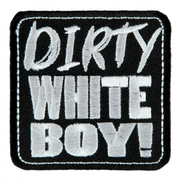 Embroidered Dirty White Boy Patch