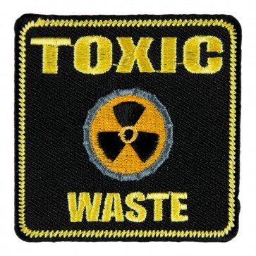 Sew On Toxic Waste Symbol Embroidered Patch