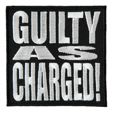 Guilty As Charged Black & White Patch