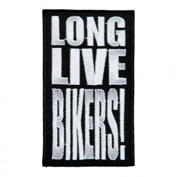 Embroidered Long Live Bikers Patch