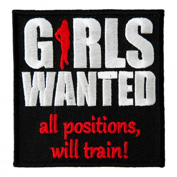 Girls Wanted All Positions Will Train Patch