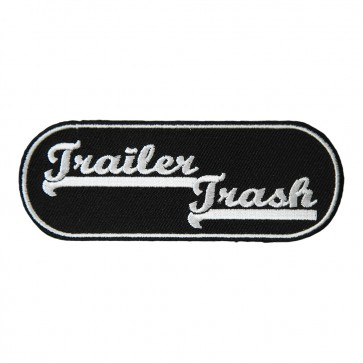 Black & White Trailer Trash Rounded Edges Patch