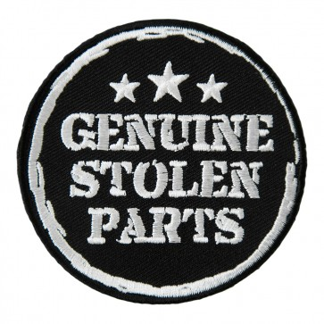 Genuine Stolen Parts & Stars embroidered biker Patch