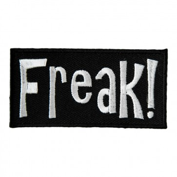 Freak Black & White Embroidered Patch