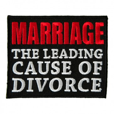 Red & White Marriage the Leading Cause of Divorce Patch
