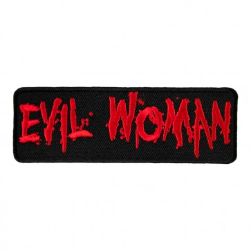 Evil Woman Embroidered Blood Red Splatter Patch