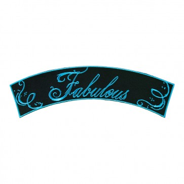 Embroidered Fabulous Turquoise Rocker Patch