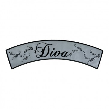 Reflective Diva Script Iron On Rocker Patch