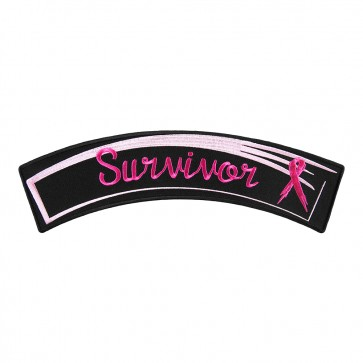 Breast Cancer Pink Survivor Embroidered Rocker Patch