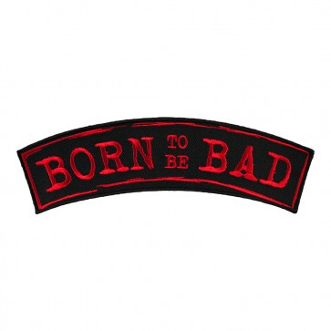 Embroidered Born To Be Bad Red Kids Rocker Patch