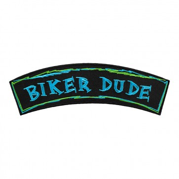 Biker Dude Embroidered Rocker Patch