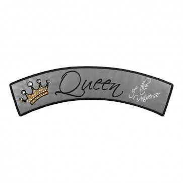 Reflective Queen of Universe Embroidered Rocker Patch