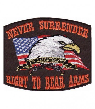 Right To Bear Arms Brown Patch, 2nd Amendment Patches