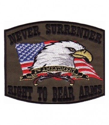 Right To Bear Arms Green Patch, 2nd Amendment Patches