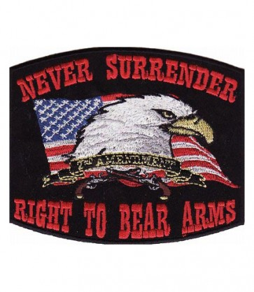 Right To Bear Arms Black Patch, 2nd Amendment Patches