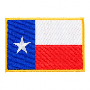 Texas Flag Yellow Border Patch, 50 State Flag Patches