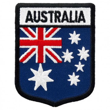 Australia Flag Shield Embroidered Patch