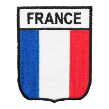 France Flag Shield Red White & Blue Patch