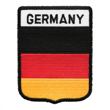 Black Border Germany Flag Shield Patch