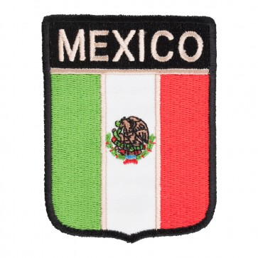 Mexico Flag Shield Patch