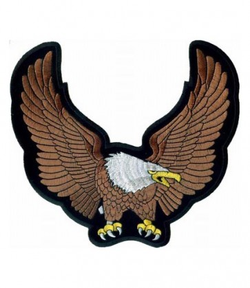 Brown Eagle Raised Wings Patch, Eagle Back Patches