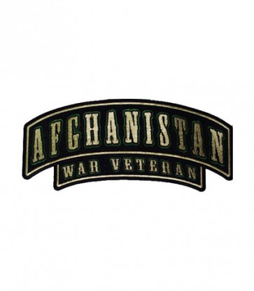 Afghanistan War Veteran Rocker Patch, Military Patches