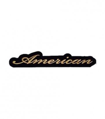 Gold American Script Patch, Patriotic Patches