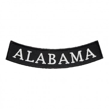 Embroidered Alabama State Bottom Rocker Patch