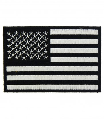 American Flag Black & White Patch, U.S. Flag Patches