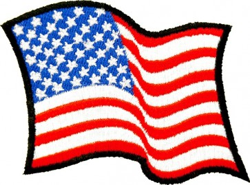 Waving US Flag Patch