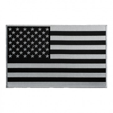 Embroidered American Flag Grey Subdued Patch