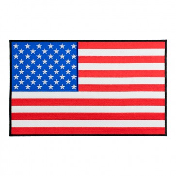 US Flag Black Border Patch