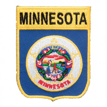 Embroidered Minnesota State Flag Shield Patch