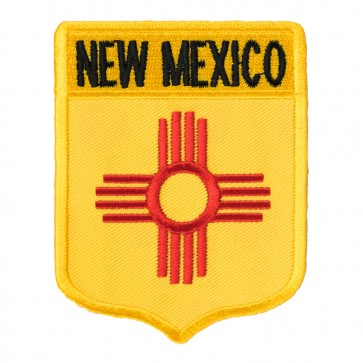 Embroidered New Mexico State Flag Shield Patch