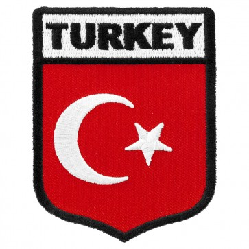Turkey Flag Shield Patch