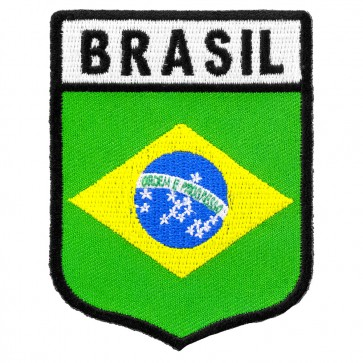 Brasil Flag Shield Patch