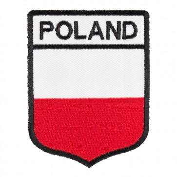 Poland Flag Shield Patch