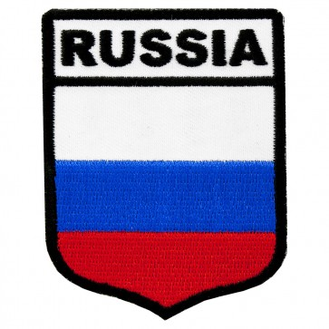 Russia Flag Shield Patch