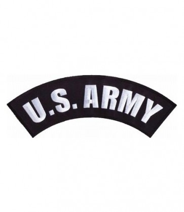 U.S. Army Black & White Rocker Patch, Military Patches