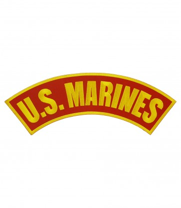 U.S. Marines Red & Yellow Rocker Patch, Military Patches