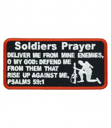 A Soldiers Prayer Patch, Military Sayings Patches