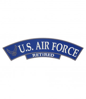 U.S. Air Force Retired Logo Rocker, Military Rocker Patch