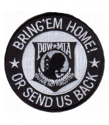 POW MIA Bring Em Home Round Patch, Military Patches