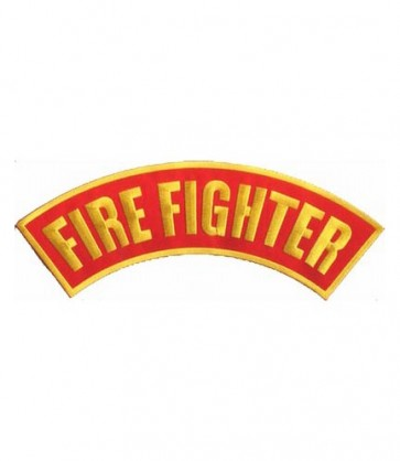Firefighter Red Rocker Patch, Firefighter Patches