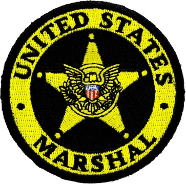 Gold US Marshal Law Enforcement Badge Patches