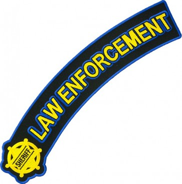 Sheriff Badge Law Enforcement Rocker Patch, Sheriff Patches
