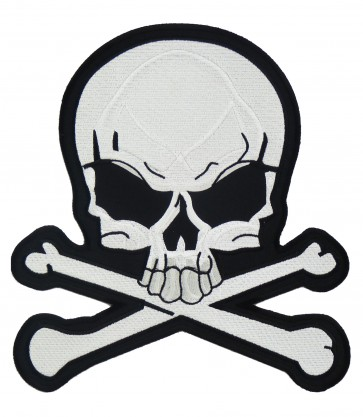 Skull & Crossbones White Patch, Skull Patches